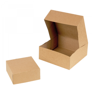 Pudełko KRAFT brązowe zamykane 180x180x80mm op. 25 sztuk