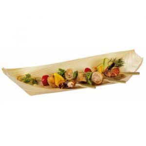 """FINGERFOOD - miseczki z drewna 22x10,5xh.3cm """"łódka"""" op. 100 sztuk"""