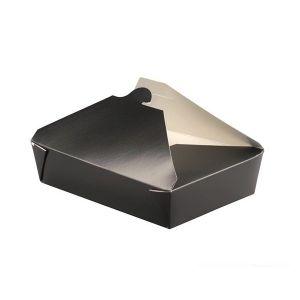 Pudełko biało/czarne TAKEOUT 1000ml 215x160x50mm; op.25szt. (8)