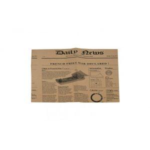 Papier woskowany brąz 35x27cm, nadruk NEWSPRINT, 22gr/m2, w poręcznym dyspenserze, op. 1000 arkuszy