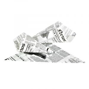 Rożek na frytki 450g, nadruk GAZETA, cena za opakowanie 1000 sztuk