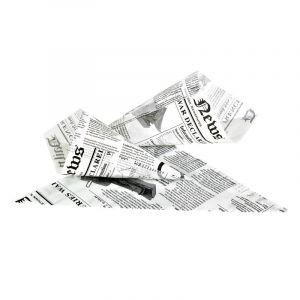 Rożek na frytki 150g, nadruk GAZETA, cena za opakowanie 1000 sztuk