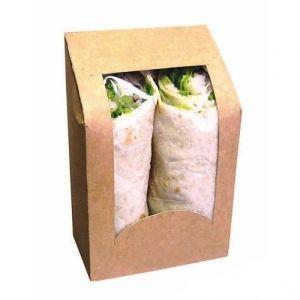 Pudełko wrap/tortilla z oknem 150x95x53mm op. 50 sztuk