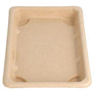 Sushi Box 3 tacka z trzciny 18,5x13x1,5 op.50szt., naturalny, biodegradowalny (k/16)