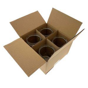 Karton 185x185xH 125mm 3W op.30szt brązowy, idealny na 4 słoiki 500ml