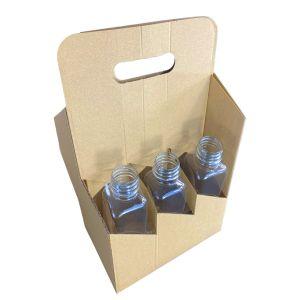 Nosidełko na 6 butelek 0,5l składane op.50szt