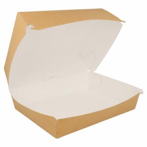 Pudełko lunch box kraft 22,5x18x9cm op. 50 sztuk