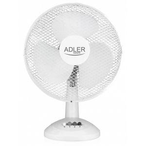 Wentylator ADLER AD 7303, biurkowy, śr.  30cm, 70W, biały op. 1 szt.