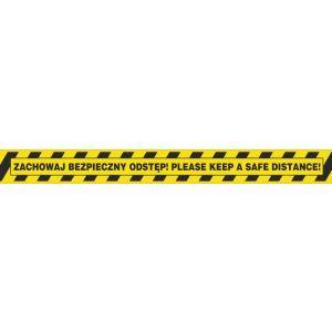 Taśma ostrzegawcza OFFICE PRODUCTS Solve nt, zachowaj bezpieczny odstęp, 50mm, 50 op. 1 szt.