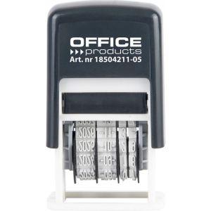Datownik samotuszujący OFFICE PRODUCTS,  z tuszem, ISO, czarny op. 1 szt.