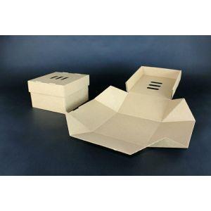 Pudełko BURGER XL rozkładane 13x13x10cm brązowe, op.100szt. TnG