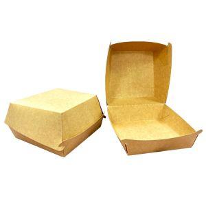 Pudełko HAMBURGER BRĄZOWY MEGA 100szt K brązowo/brązowy 150x150x80mm bez druku TnG