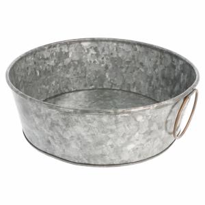 Galvanized steel round bowl fi.23x8 cm (k/12)