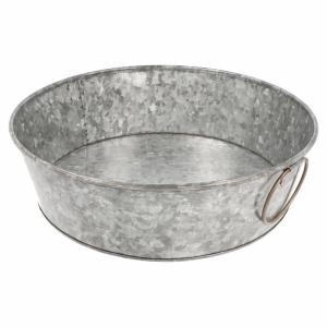 Galvanized steel round bowl fi.27,5x8 cm (k/12)