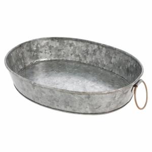 Galvanized steel oval bowl 25,5x20,5x5 cm (k/12)