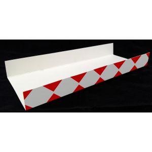 Podkładki kartonowe na zapiekanki, kratka czerwona, rozmiar 10x25cm, opakowanie 100 sztuk