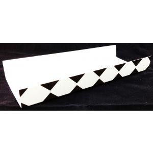 Podkładki kartonowe na zapiekanki, kratka czarna,  rozmiar 10x25cm, opakowanie 100 sztuk