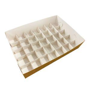 Pudełko catering set box PRZEGRODY 35szt op. 50 zestawów -białe TnG