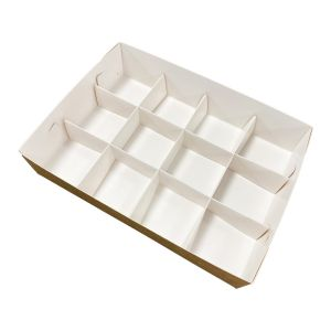 Pudełko catering set box PRZEGRODY 12szt op. 50 zestawów -białe TnG