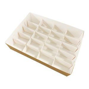 Pudełko catering set box PRZEGRODY 20szt op. 50 zestawów -białe TnG