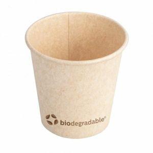 Kubek z masy celulozowej 120ml, śr..6xh.6cm 100% biodegradowalne, 4oz, op. 50 sztuk