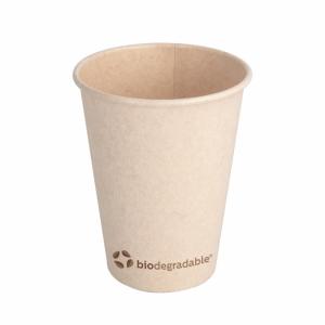 Kubek z masy celulozowej 360ml, śr.9xh.11cm, 100% biodegradowalne, 12oz, op. 50 sztuk