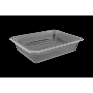 Lunch container for welding 227x178 mm height 5 cm transparent, unsplit, smooth TnP, 50 pieces