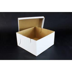 Pudełko cukiernicze 260x260xh.140mm komplet z pokrywą, op.50 kompletów TORT