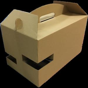 Pudełko z uchwytem DIETA BOX na pojemniki obiadowe + 2 butelki/puszki/kubki, 325x197x195