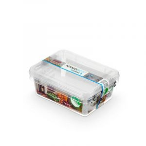 Zestaw pojemników antybakteryjnych ORPLAST Nanobox, 2x1,15l, transparentny op. 1 szt.
