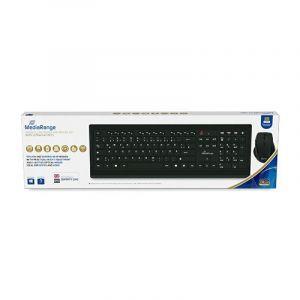 Zestaw klawiatura i myszka komputerowa MEDIARANGE, bezprzewodowy, czarno-szary op. 1 szt.