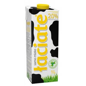 Mleko ŁACIATE 2%, 1L