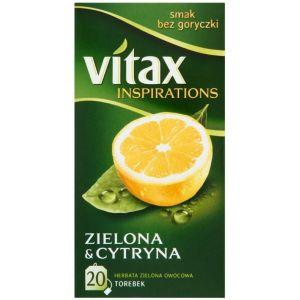 Tea VITAX Inspirations, green with lemon, 20 bags