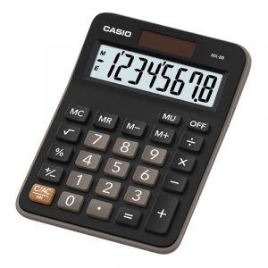 Kalkulator biurowy, CASIO Mx-8B-BK,8-cyfrowy, 106,5x147mm, czarny op. 1 szt.