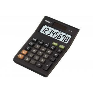 Kalkulator biurowy, CASIO MS-8B-S,8-cyfrowy, 103x147mm, czarny op. 1 szt.