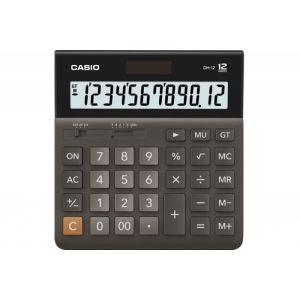 Kalkulator biurowy, CASIO DH-12BK-S,12-cyfrowy, 151x159mm, czarny op. 1 szt.