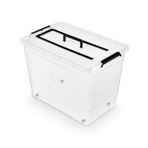 Pojemnik do przechowywania ORPLAST Simple Box, 80l z rączką, transparentny op. 1 szt.