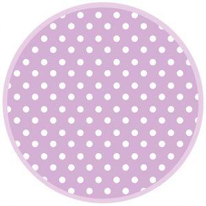 Talerz pap. OGÓLNY śr.227mm wzór 038304 op. 8 szt. (k/12) Lavender Dots