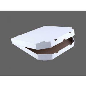 Pudełka pizza 26x26cm op.100szt śc.rogi h=3,5cm, Biało-szara Fala E