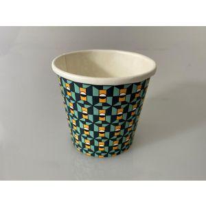 Kubek papier 100ml nadr.wzorki op.100szt espresso