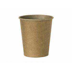 Kubek papier 250ml brązowy KRAFT op.100szt., jednowarstwowy, średnica 80mm (k/24)  TnP (43085)