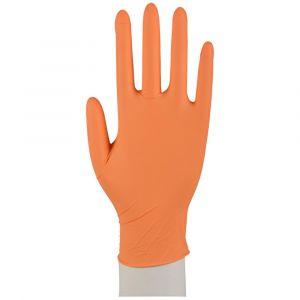 Rękawiczki nitryle pomarańczowe ABENA XS op.100szt ORANGE bezpudrowe (k/10)