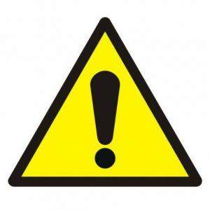Ogólny znak ostrzegawczy B2 - 105 x 105mm GW001B2FN
