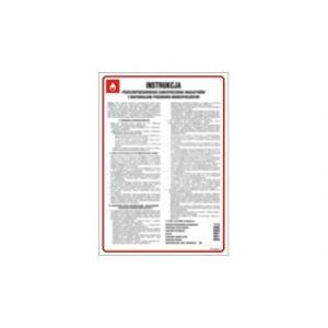 Instrukcja przeciwpożarowa - profilaktyka ppoż, dla wszystkich pracowników DN - 350 x 245mm DB016DNHN