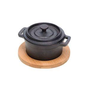 Żeliwne naczynie na zupę podstawką 135x105mm - kod 2427747