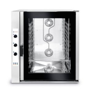 Electric combi steamer 10X Gn 2/1 with manual control