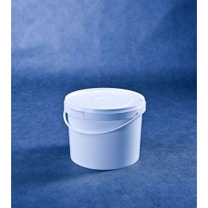 Wiaderko 3L białe z plombą, cena za opakowanie 30 szt.