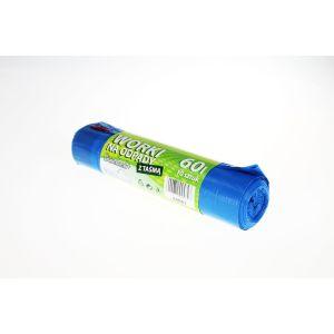 Worki na odpady LDPE 60l z taśmą, 10 szt. na rolce