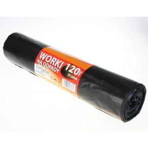 Worki na odpady LDPE 120l HoReCa+ czarne, 25 szt. na rolce