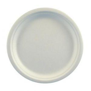 Talerz z trzciny cukrowej 23cm, op.50szt biały (k/10) KR